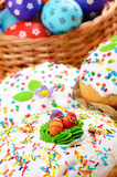 Easter eggs and cakes Stock Images