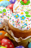 Easter eggs and cakes Royalty Free Stock Images