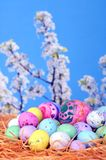 Easter eggs and candies Royalty Free Stock Photography