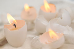 Easter eggs-candles Royalty Free Stock Photos