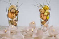 Easter eggs-candles Stock Photography