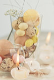 Easter eggs-candles Stock Image