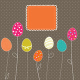 Easter eggs card Stock Photography