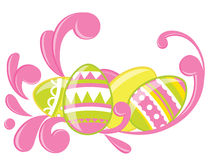 Easter eggs card Royalty Free Stock Photo