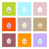 Easter eggs card Stock Photos