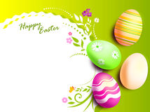 Easter eggs card. Painted eggs are decorated by various techniques before Easter Royalty Free Stock Photography