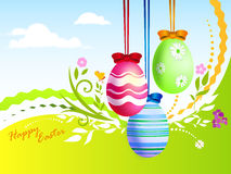 Easter eggs card Royalty Free Stock Photos