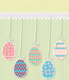 Easter Eggs Card Royalty Free Stock Images