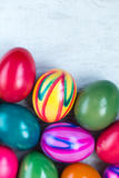 Easter eggs card Stock Photo