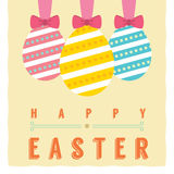 Easter Eggs. Card Vector Illustration Royalty Free Stock Photography