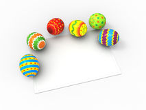 Easter eggs, and card for the wishes Stock Photo
