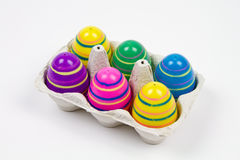 Easter eggs in a carton Royalty Free Stock Photography