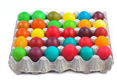 Easter eggs in carton Royalty Free Stock Photography