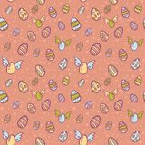 Easter eggs cartoon seamless texture Royalty Free Stock Image