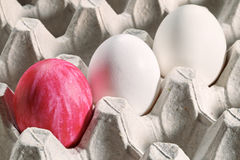 Easter eggs in a cassette stock photos