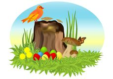 Easter eggs, cdr vector Royalty Free Stock Images