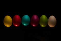 Easter Eggs celebration, color, decorative, design, group, holiday, objects, colorful Stock Images