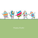 Easter eggs characters Royalty Free Stock Image