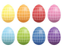 Easter Eggs Checked Gingham Pattern Stock Images