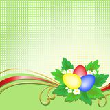 Easter eggs on a checkered background Stock Photos