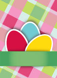 Easter Eggs on checkered background Stock Photos