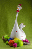 Easter eggs and chick Royalty Free Stock Photo
