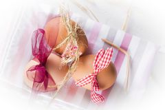 Easter eggs for children to celebrate easter eve stock photo