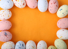 EASTER eggs chocolate border frame Stock Photos