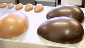 Easter eggs chocolate on worktop pastry stock video footage