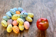 Easter eggs for Christian holiday Stock Photos