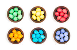 Easter eggs in a clay plate Royalty Free Stock Image