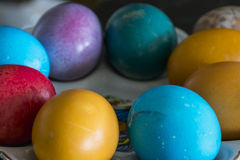 Easter eggs. Close shot of 2017 easter eggs stock images