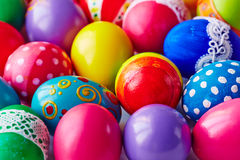 Easter eggs close-up Stock Images