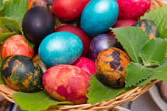Easter eggs closeup Royalty Free Stock Photography
