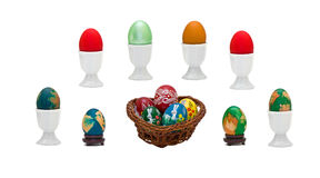 Easter eggs collage Stock Photography