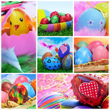 Easter eggs collage Royalty Free Stock Photography