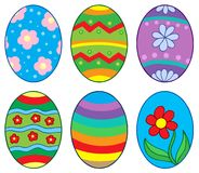 Easter eggs collection 1 Stock Photo