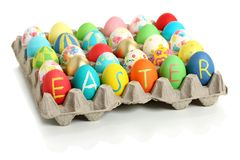 Easter eggs collection Stock Images