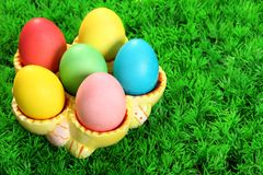 Easter eggs collection Stock Photo