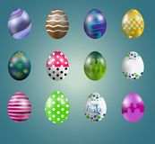 Easter eggs collection Royalty Free Stock Photography