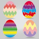 Easter eggs collection. Isolated, vector illustration royalty free illustration