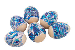 Free Easter Eggs Collection On A White Royalty Free Stock Images - 13367919