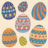 Easter eggs Collection Royalty Free Stock Images