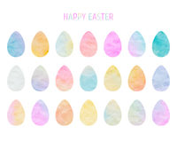 Easter eggs collection vector illustration
