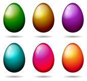 Easter eggs collection. On white background Stock Image
