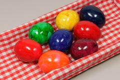 Easter eggs. Color  easter eggs - Egg  checked royalty free stock image