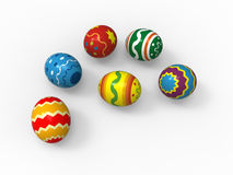 Easter eggs, color pack collection Stock Images