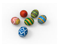 Easter eggs, color pack collection Royalty Free Stock Image
