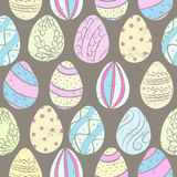 Easter eggs color pattern Royalty Free Stock Images