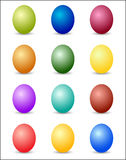 Easter Eggs Color Spectrum Background Royalty Free Stock Image